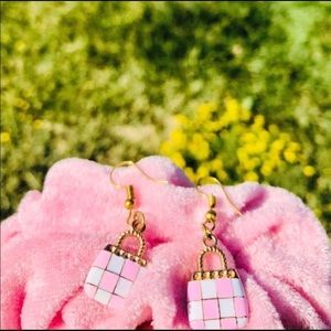 NEW Purse Checkered Earrings